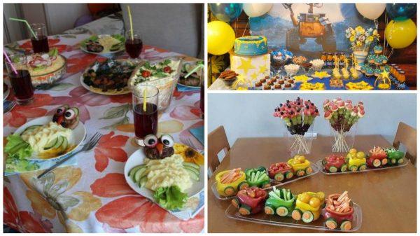 оформление стола на детский день рождения идеи