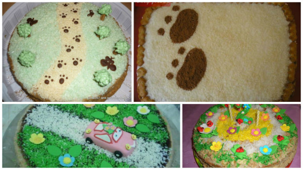 Украшение торта для мальчика