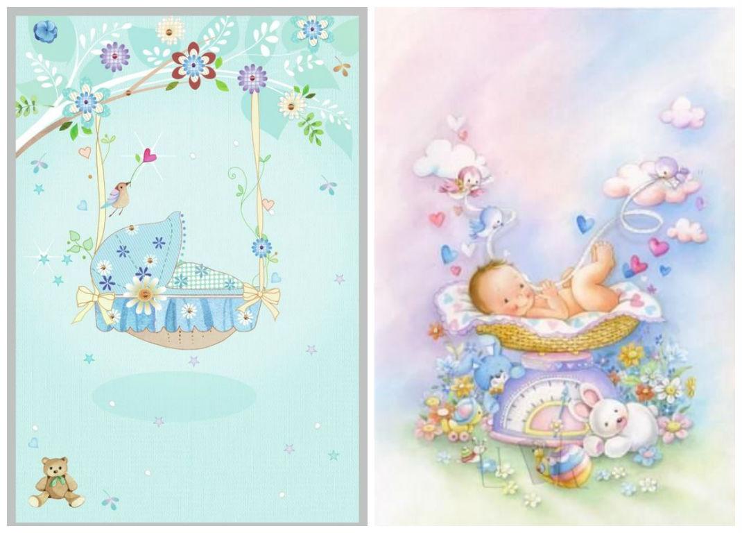 Рисунок поздравления с новорожденным 72