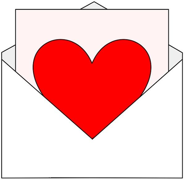 конверт, сердце