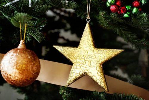звезда, елка, украшение