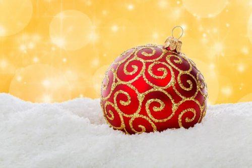 снег, шарик