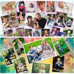 7 идей для коллажа из детских фотографий на День рождения малыша